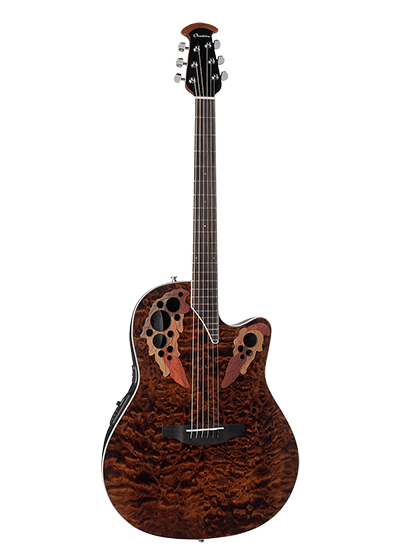 CE44P-TGE - Celebrity Elite® Exotic - Dark Tiger Eye On Exotic Quilted Maple