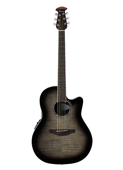 CS24P-TBBY - Celebrity Standard Exotic - Transparent Black Burst On Flamed Maple