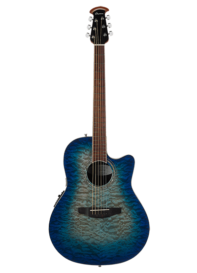 CS28P-RG - Celebrity Standard® Exotic - Caribbean Blue/Natural Burst On Exotic Quilted Maple