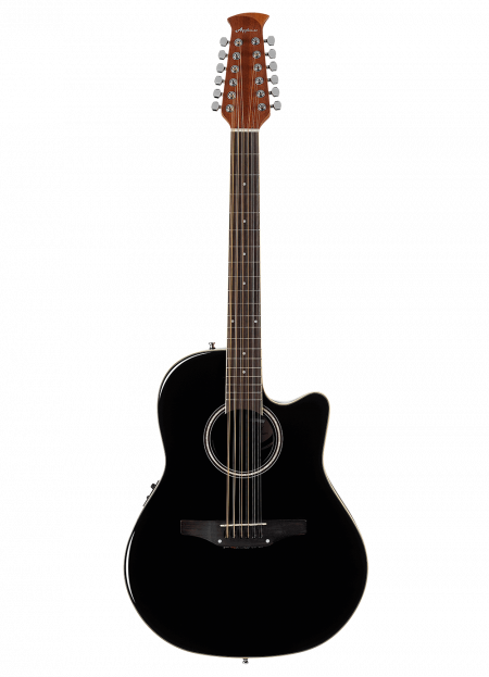 AB2412II-5 - Applause® Standard 12-String - Black - Front