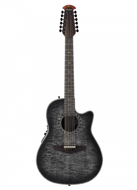 C2059AXP-5S - The ExoticWoods Collection Custom Legend® 12-String - Black Satin Quilted