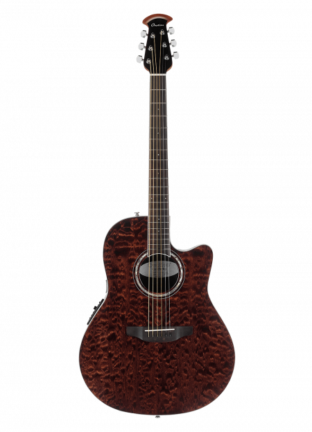 CS28P-TGE - Celebrity Standard® Exotic - Dark Tiger Eye On Exotic Quilted Maple - Front