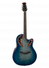CE48P-RG - Celebrity Elite Exotic - Caribbean Blue/Natural Burst On Exotic Quilted Maple - Front