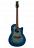 CS28P-RG - Celebrity Standard® Exotic - Caribbean Blue/Natural Burst On Exotic Quilted Maple - Front
