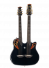 RSE225-5 - Richie Sambora Elite Double Neck 6/12 String - Black - Front